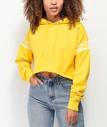 Zine Indie sudadera con capucha amarilla