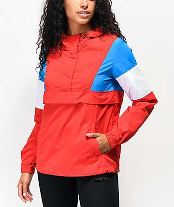 Zine Kailyn Red, White & Blue Windbreaker Jacket