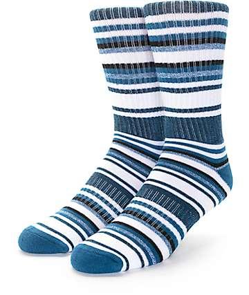 Zine Legion Dark Turquoise & Cream Crew Socks