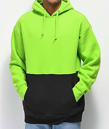 Zine Mass Green & Black Hoodie