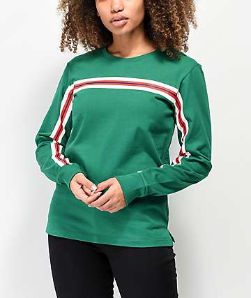 Zine Monroe Taped Green Long Sleeve T-Shirt