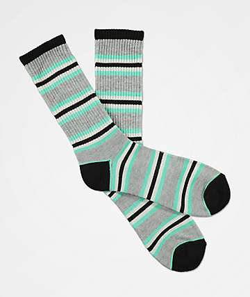Zine Motion Biscay Green Crew Socks