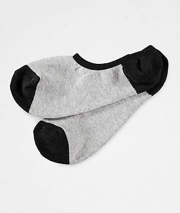 Zine No Show Heather Grey Socks