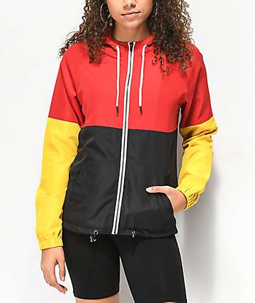 Zine Reajan Red, Yellow & Black Windbreaker Jacket