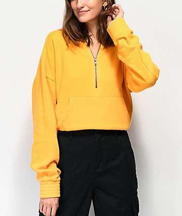 Zine Serenity sudadera con capucha dorada con media cremallera