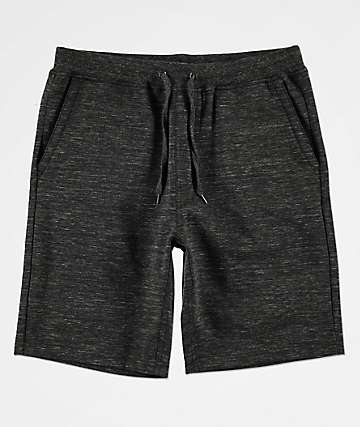 Zine Silas Black Athletic Sweat Shorts
