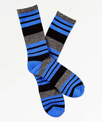 Zine Street Song Blue Crew Socks