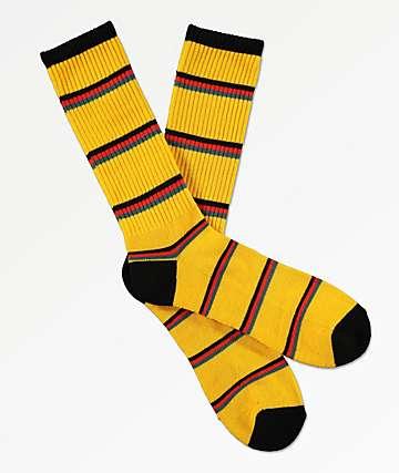 Zine Tried Fushion Black & Tomato Crew Socks