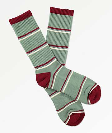 Zine Tried Granite Green Crew Socks