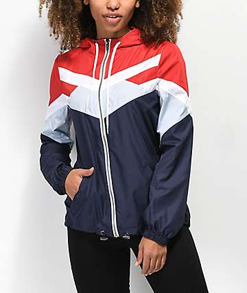 Zine Tyler Red, White, & Blue Windbreaker Jacket