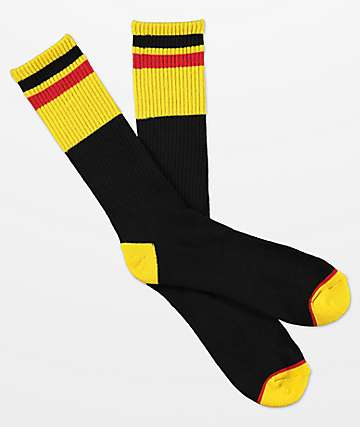 Zine Ultimate Black Maize Crew Socks