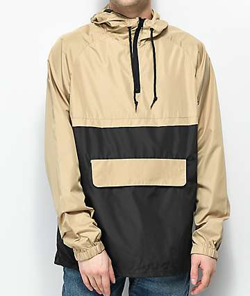 Zine Unlimited Khaki & Black Anorak Jacket
