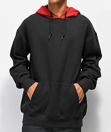Zine Utmost Red & Black Hoodie