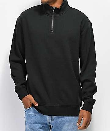 Zine Zippy Half Zip Black Sweatshirt