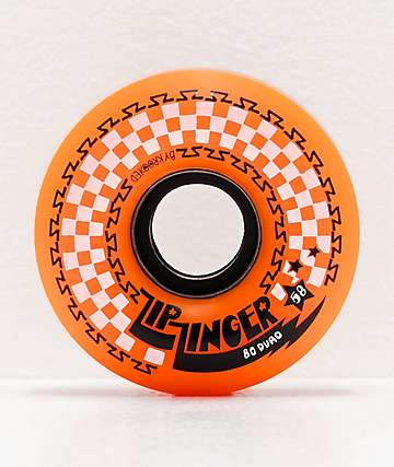 Zip Zinger 58mm 80a Orange Skateboard Wheels