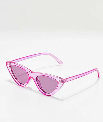 Zoe Purple Tinted Cat Eye Sunglasses