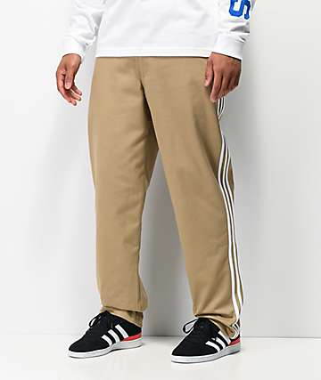 adidas 3 Stripe Beige Chino Pants