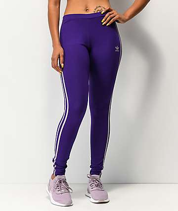 adidas 3-Stripe Collegiate Purple Leggings