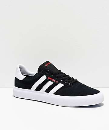 adidas 3MC Black, White, Red & Blue Shoes