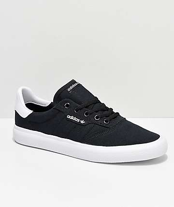 adidas 3MC Black & White Canvas Shoes