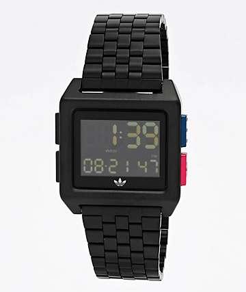 adidas Archive M1 Black, Blue & Red Digital Watch