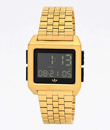 adidas Archive M1 Gold & Black Digital Watch