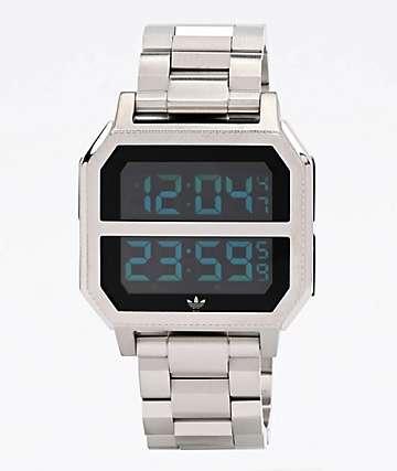 adidas Archive MR2 Silver Digital Watch