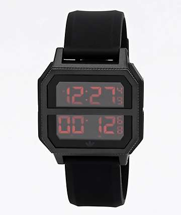 adidas Archive R2 Black & Red Digital Watch
