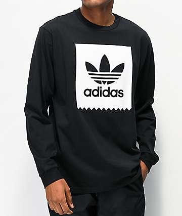 adidas Blackbird Black & White Long Sleeve T-Shirt