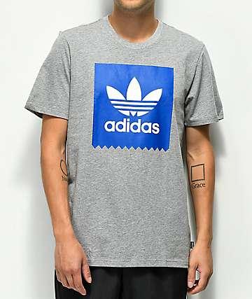 adidas Blackbird Solid Core Heather & Royal Blue T-Shirt