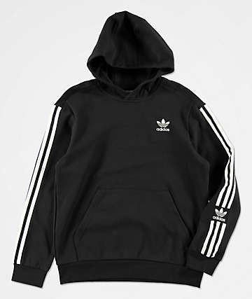 adidas Boys New Icon Black Hoodie