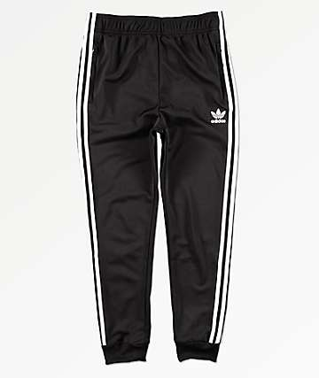 adidas Boys Trefoil Black & White Jogger Pants
