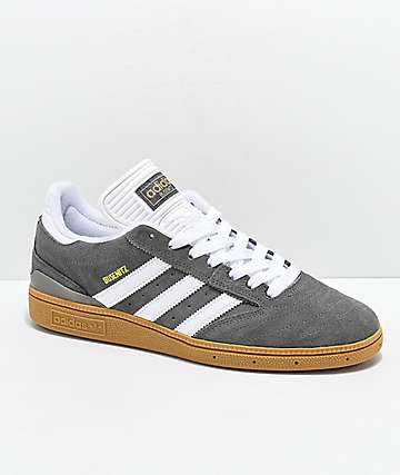 adidas Busentiz Cinder Grey, White & Gum Shoes