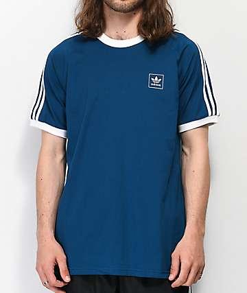 adidas California Blackbird Blue & White T-Shirt