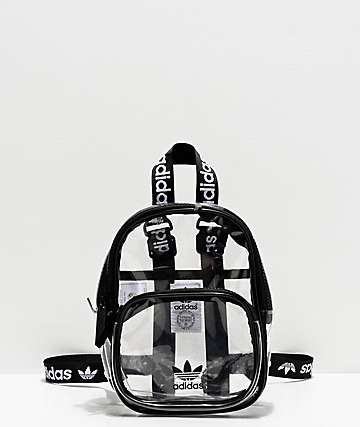 adidas Clear & Black Mini Backpack