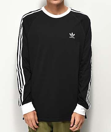 adidas Clima 2.0 camiseta de manga larga negra y blanca