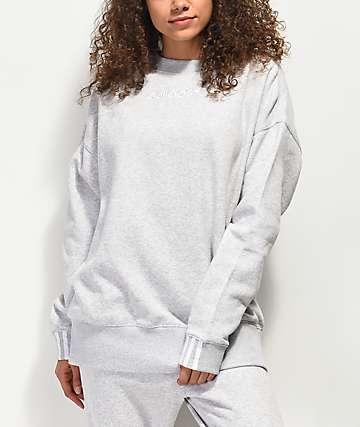 adidas Coeeze Light Grey Crew Neck Sweatshirt