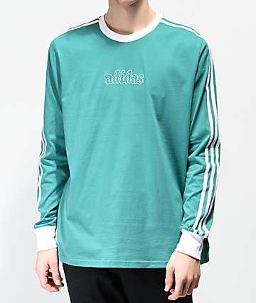 adidas Creston Green Long Sleeve T-Shirt