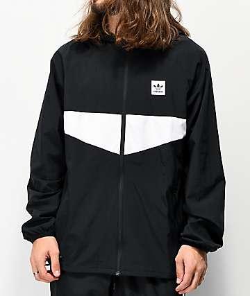 adidas Dekum Packable Black Windbreaker Jacket