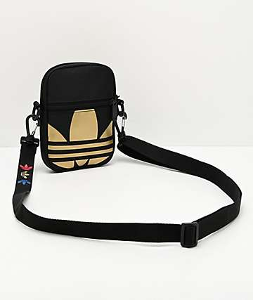 adidas Festival Spacetech Black & Gold Shoulder Bag