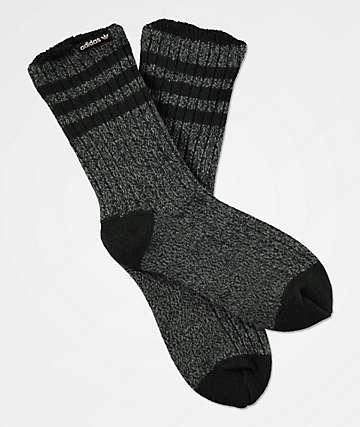 adidas House II Black & Onyx Crew Socks