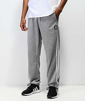 adidas Insley Grey & White Sweatpants