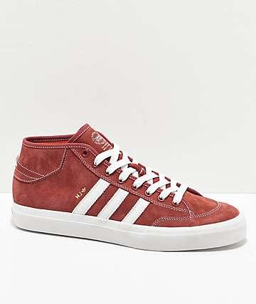 adidas Matchcourt Mid MJ Brick Red & White Shoes