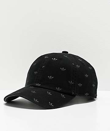 adidas Originals Allover Print Black Strapback Hat