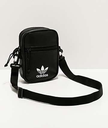 adidas Originals Faux Leather Black Shoulder Bag