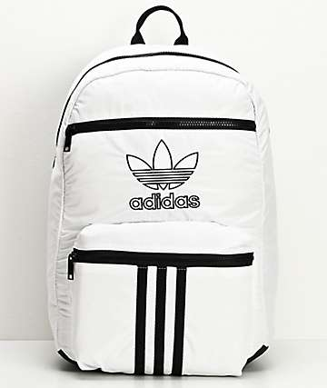 adidas Originals National 3 Stripe White Backpack