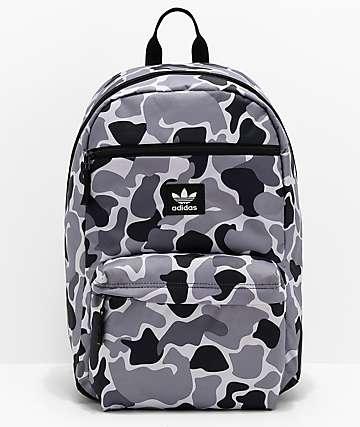 adidas Originals National Grey & Black Camo Backpack