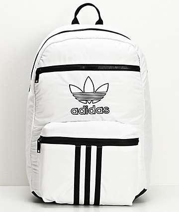 adidas Originals National mochila blanca de 3 rayas