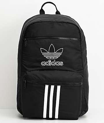 adidas Originals National mochila negra de 3 rayas
