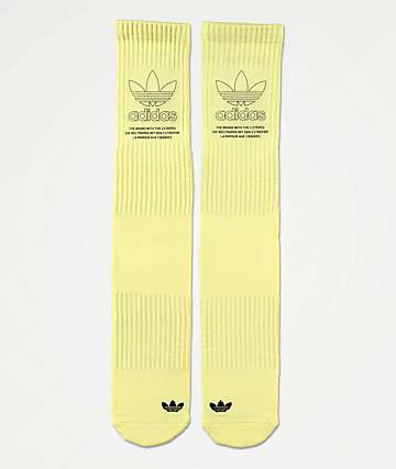 adidas Originals Printed Yellow Crew Socks